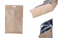 """Опаковка тип DOY PACK с """"цип"""" затваряне и алуминиева вътрешна облицовка и възможност за термозапечатване 140x70x230 mm - 50 бр."""