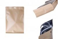 Опаковка  тип Doy Pack с цип затваряне и  алуминиева вътрешна облицовка и възможност за термозапечатване 200x80x290 mm - 50 бр.