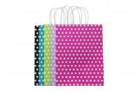 Хартиени торбички с размер 250x120x330 mm в различни цветове ( на точки)