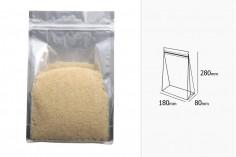 Алуминиева опаковка тип DOY PACK с размери  180x80x280 мм - 50 бр