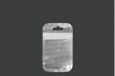 Пликчета с цип  55x90 mm, нетъкана в гръб и прозрачна  в предната част и супка Eurohole - 100 бр.