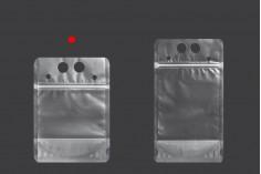 Прозрачна опаковка Doy Pack 250 мл с цип и дупки за сламка  - 50 бр