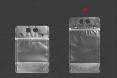Прозрачна опаковка тип Doy Pack 500 ml с цип и дупки за сламки - 50 бр