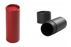 Цилиндрична кутия ( с черна вътрешна облицовка) с размери  61х165 мм за бутилки - 12 бр./пакет