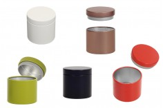 Метална цилиндрична кутия с размери 47х45 мм в различни цветове