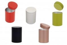 Метална цилиндрична кутия с размери  47х65 мм в различни цветове