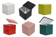 Метална квадратна кутия за съхраняване 85x85x85 в различни цветове