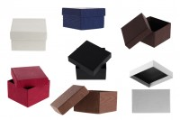 Хартиени кутии с размери  86x92x56 mm в различни цветове - опаковане по 6 бр. на пакет