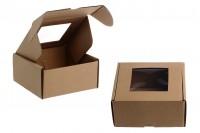 Крафт Кутия с прозорец с размери 130x120x60 mm