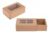 Картонена  крафт кутия  с прозорец 185x120x65 мм - 20 бр. в опаковка