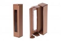 Хартиена крафт кутия с прозорец с размери 55x55x250 mm - 20 бр.