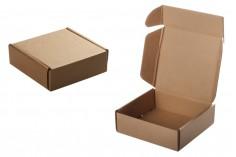 Хартиена крафт кутия с размери 128х132х45 мм - 20 бр