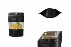 Алуминиеви торбички тип ДОЙ ПАК с размер 90x30x140 mm, с цип затваряне и възможност за термозапечатване- 100 бр./пакет