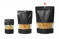 Алуминиеви торбички тип Дой Пак с размер 180x40x260 mm, с цип затваряне и възможност за термозапечатване - 100 бр./пакет