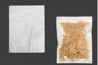 Найлонови торбички 260х340 мм с цип затваряне,с  бял гръб и прозрачна предна част - 100 бр