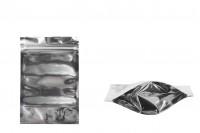 Опаковка тип Doy Pack с размери 100x30x150 mm с алуминиева задна част и прозрачна предна част с цип затваряне  - 100 бр.