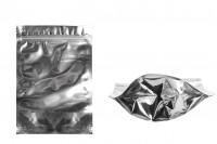 Опаковка тип Doy Pack с размери 140 x 40 x 200 mm с цип затваряне, алуминиева задна част и прозрачна предна част - 100 бр.