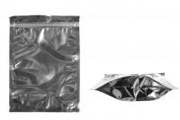 Опаковка тип Doy Pack с размери  180 x 40 x 250 mm с цип затваряне , алуминиева задна част и прозрачна предна част - 100 бр.