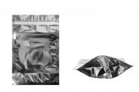 Опаковка тип  Doy Pack с размер  160х40х240 мм с алуминиева задна страна, прозрачна предна част, с  възможност за термозапечатване