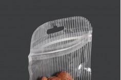 Пластмасови пликове  с цип затваряне 55x90 мм, с прозрачен гръб и  Eurohole - 100 бр