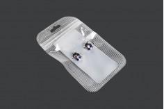 Пластмасови пликове  с цип 105x150 mm, прозрачна предна част с дупка Eurohole - 100 броя