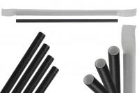 Хартиена сламка, екологична 180x62 мм в черен цвят - 100 бр.