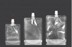 Прозрачна торбичка тип ДОЙ ПАК 100 ml  с бяла капачка - 50 бр