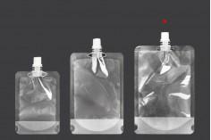 Прозрачна опаковка тип Doy Pack  500 ml с бяла капачка - 50 бр
