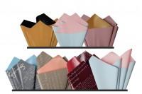 Цветна хартия с размери 59x59 см в различни цветове - 25 бр