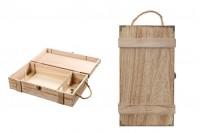 Дървена кутии за съхраняване на 2 бутилки за вино