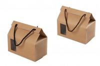 Кутия - крафт чанта с прозорец и дръжка 180x100x160 - 20 бр