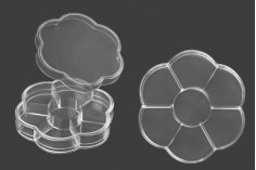Пластмасова кутийка за козметични продукти (7 позиции)