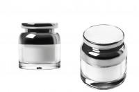 Пластмасова опаковка акрил за крем 50 мл с вътрешен уплътнител