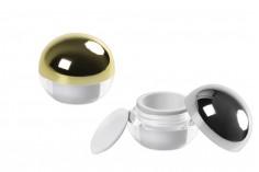 Луксозно кръгло бурканче за крем 5 мл Акрил,  с капачка и с вътрешен уплътнител  - 12 бр.