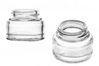 Стъклен прозрачен буркан 50 мл за крем - без капачка