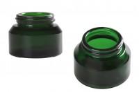 Стъклен зелен буркан 50 мл без капачка