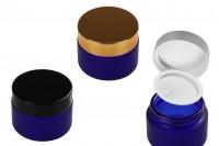 Стъклени сини матови буркани за крем 20 мл с капачка с уплътнител