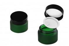 Стъклен матов зелен буркан 30 мл с капачка с уплътнител