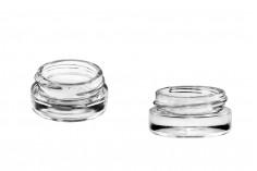 Стъклен буркан 5 мл с капачка с уплътнител