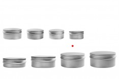 Алуминиев буркан 200 мл за крем с капачка с уплътнение  - 12 бр