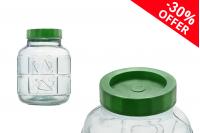 Стъклен  буркан 6 литра  с капачка