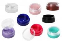 Пластмасово цветно бурканче 3 мл, Акрил, с прозрачна капачка
