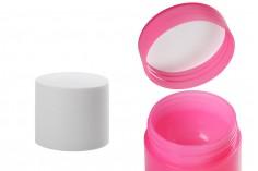 Пластмасов буркан за крем 10 мл с двойно дъно - 12 бр