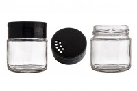 Classic spice jar 106 ml with black cap with holes *